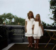 Grand Duchesses Maria and Anastasia Romanova of Russia.