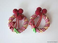 Kissankäpälä: Kranssikoristeet joulukuuseen, little wreaths for . Christmas Wreaths, Christmas Tree, Crochet Earrings, Holiday Decor, Home Decor, Teal Christmas Tree, Decoration Home, Room Decor, Xmas Trees