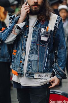 6 Discerning Tips: Urban Fashion Outfits Blouses urban fashion hipster swag.Urban Fashion Streetwear Coats urban wear for men pants. Urban Apparel, Streetwear Mode, Streetwear Fashion, Denim Jacket Men Style, Men's Denim, Denim Shirt, Mode Man, Mode Abaya, Urban Style Outfits