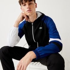 Lacoste Sport | Preview | LACOSTE Sports Tracksuits, Lacoste Sport, Top Luxury Brands, Jogging Bottoms, Tracksuit Set, Luxury Branding, Rain Jacket, Windbreaker, Cloths