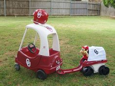 $10 Yard Sale Cozy Coupe OU Makeover