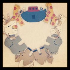 Vintage  Wooden Noah's Ark Banner For Child's by NorthlineDesigns, $16.00