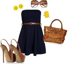 """""""Navy and Yellow"""" by jesussavedme on Polyvore"""