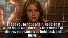 #Supergirl Hope and Spirit!