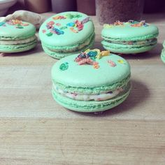 The Farm House | Nashville | Fruity pebble macarons filled with a fruit pebble buttercream.