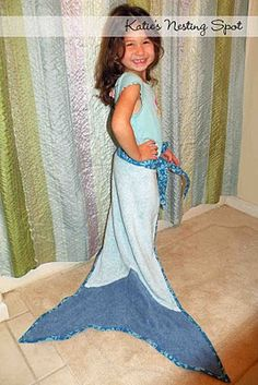 To make...cute mermaid tail towels for favors