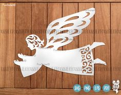 Angel svg cut file   Angel cut file   Christmas svg   Heaven svg, wings svg   Child   Diecutting   Silhouette   vinyl decal   Cricut, Cameo For personal and commercial use. - You are purchasing commercial+personal USE of this Angel design.  - This design is for hand and machine cutting as