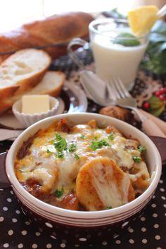 『挽肉と根菜のカレーチーズグラタンlunch』