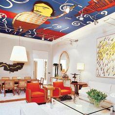 ainda tô na dúvida se gosto ou não deste teto pintado...