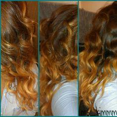 Ombré hair color/wavey hair