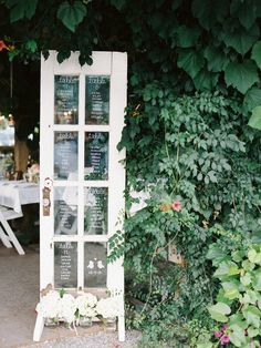 wedding reception seating chart idea; Ryan Ray Photography