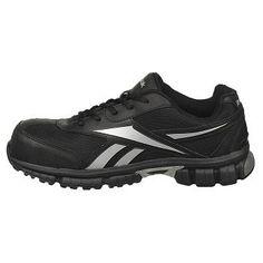 Reebok Work Men's Ketia Composite Toe Sneakers (Black/Silver) - 12.0 M