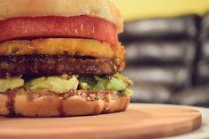 Grilled Watermelon Pineapple Teriyaki Burger #MeatlessMonday @beyondmeat