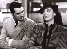 "Cary Grant and Rosalind Russell in ""His Girl Friday"" (1940)"