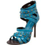 I love the color, straps and silver blocks. The heavy ankle strapping works with my small ankles.
