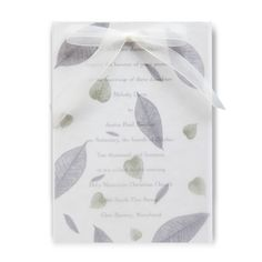 Set the scene for your fall wedding theme starting with your invites! Check out the Lavander Bliss Wedding Bliss Invitations where your words of love are covered with a soft translucent overlay decorated with lavender and green leaves!