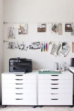 collect your inspirations in a well-organized home studio (via MStetson Design)