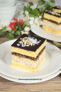 ciasto snikers wg s. Anastazji | Domowy Smak Jedzenia .pl Polish Desserts, Calzone, Food Cakes, Chocolate Desserts, Vanilla Cake, Ale, Cake Recipes, Good Food, Food And Drink