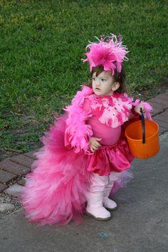 girls handmade pink flamingo halloween costume kids. Black Bedroom Furniture Sets. Home Design Ideas