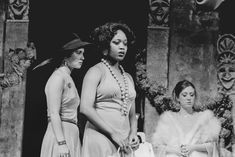 Beautiful Alfre Woodard, onstage in a Boston University production of Thesmophoriazousae. Ms. Woodard, a native of Tulsa, Oklahoma, graduated from Boston University's College of Fine Arts in 1974 with a degree in drama. She also received an honorary degree in 2004. Photo by BU Photography.