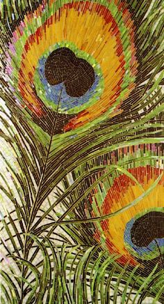 Glass Mosaic feather