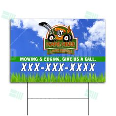Kids Lawn Care Company Yard Signs