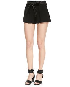 Flutter Shorts with Leather Tie Belt (Stylist Pick!) at CUSP.