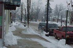 Snowy Downtown Richmond, MI