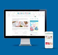 Criação do Blog da Tricae na plataforma WordPress.