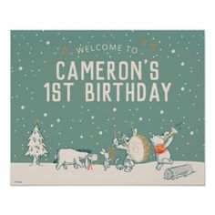 Winnie the Pooh | Winter First Birthday - Welcome Poster: Winnie the Pooh | Winter First Birthday - Welcome Poster $14.30 by winniethepooh Welcome Poster, Winnie The Pooh, First Birthdays, Baby Shower Winter, Paper, Disney, Welcome Back Sign, One Year Birthday, Winnie The Pooh Ears