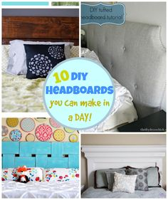 A collection of 10 DIY Headboards you can make in a DAY! Love the pottery barn knock offs!
