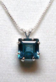 London blue topaz pendant w/ 18 sterling silver by Michaelangelas, $69.50