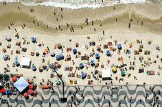 Copacabana boardwalk in Rio de Janeiro Brazil designed by Roberto Burle Marx.