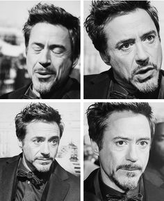 LOVE Robert Downey Jr and his adorable faces :