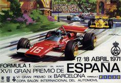 1971. Cartel del Gran Premio de España de Fórmula 1. Barcelona.