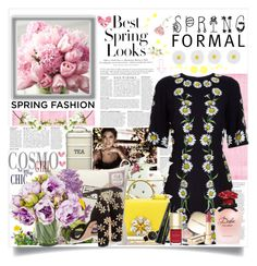 """""""Floral spring dress """" by kerol-bartoli ❤ liked on Polyvore featuring Anja, H&M, Dolce&Gabbana, Royal Albert and Monsoon"""