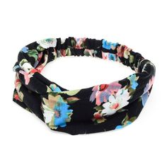 2017 New Wide Women Turban Headband Multicolored Flower Cross Women Elastic Headbands Flower Headband Women Hair Accessories