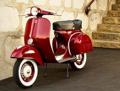 White walls and nice red vespa