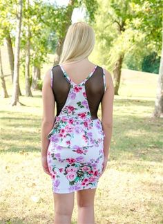 Smell The Roses-Peplum - Must Haves Boutique