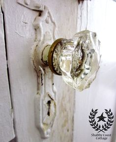 """I remember my Mum redecorating our new house in the 60's, and getting rid of all the glass doorknobs because they were """"too old fashioned looking""""...now they're """"retro"""", and cool again."""