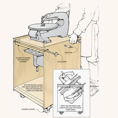Space-Saving Tool Stations | Woodsmith Tips