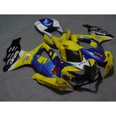 Suzuki GSX-R 600/750 2008-2010 K8 Injection ABS Fairing - Corona - Yellow/Blue/Black | $669.00