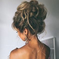 Messy, High Updos - Prom Hairstyle Ideas 2017