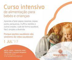 Estão abertas as inscrições para o Curso de alimentação para bebés e crianças! É um curso intensivo de 8 horas na Bioparadigma - Clínica de  Medicina Integrativa em Barcelos  Para inscrições e informações contactem a Bioparadigma!