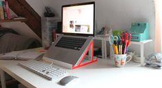 DIY socle pour pc portable : mettre écran à hauteur des yeux, et aérer ! parfait pour le bureau !