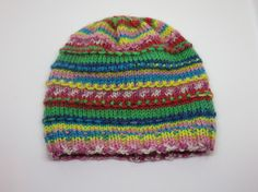 A colourful beanie to go with simple plain babywear. Striped Knit Baby Hat  Infant Hat Baby Boy by WinterMorningCrafts.