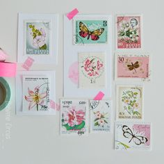 Stamp collection - Flowers & Butterflies Bohème Circus