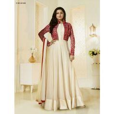 093d94123541 Buy Drashti Dhami beige color georgette jacket style party wear salwar  kameez in UK