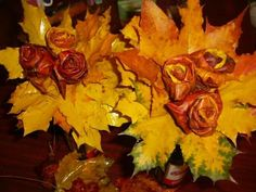 handmade floral table centerpieces recycling fall leaves