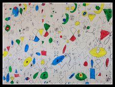 Pour notre dernière séance sur Joan Miró, nous avons repris le répertoire de formes créé durant la séance précédente et que vous pouvez retrouver ici. Chaque élève a repris la forme choisie la sema…